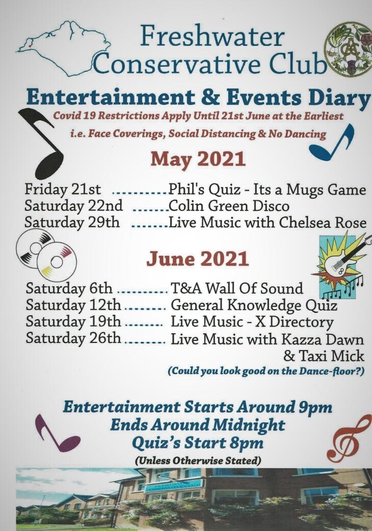 May & June Entertainment