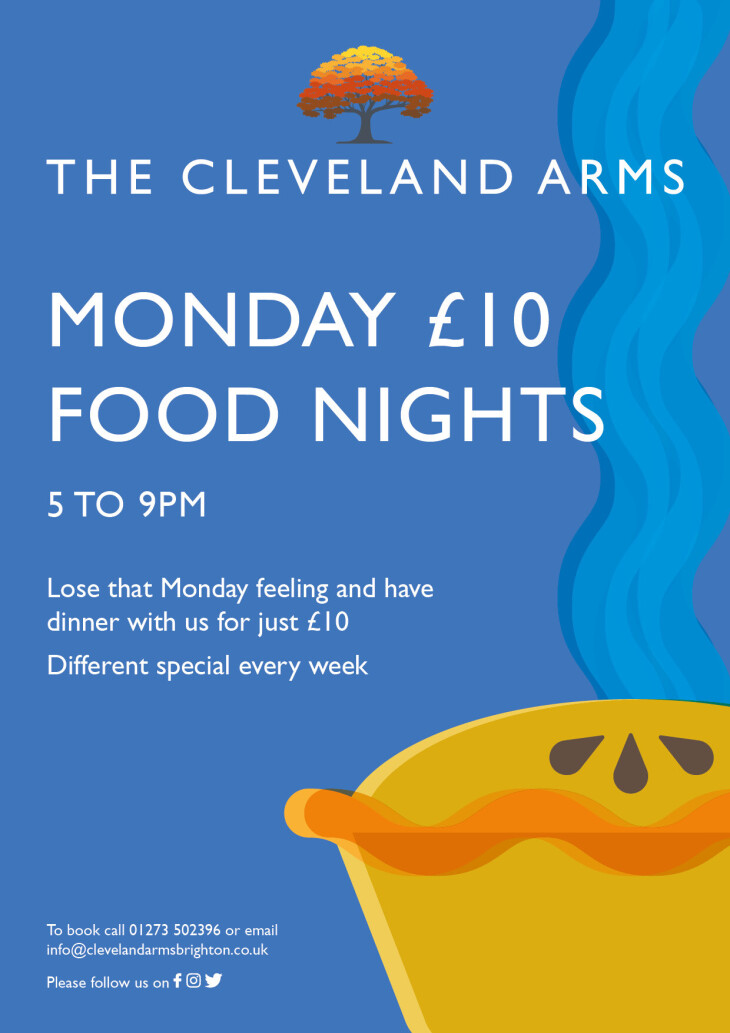 Monday £10 food night