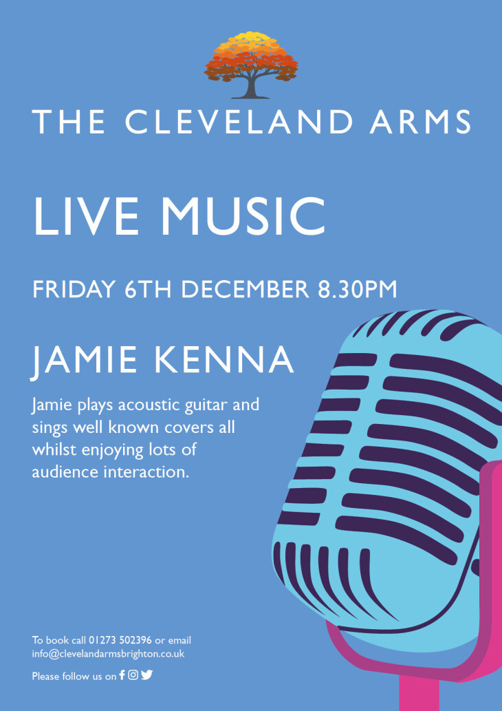Live music with Jamie Kenna