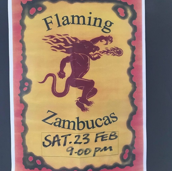 FLAMING ZAMBUCAS