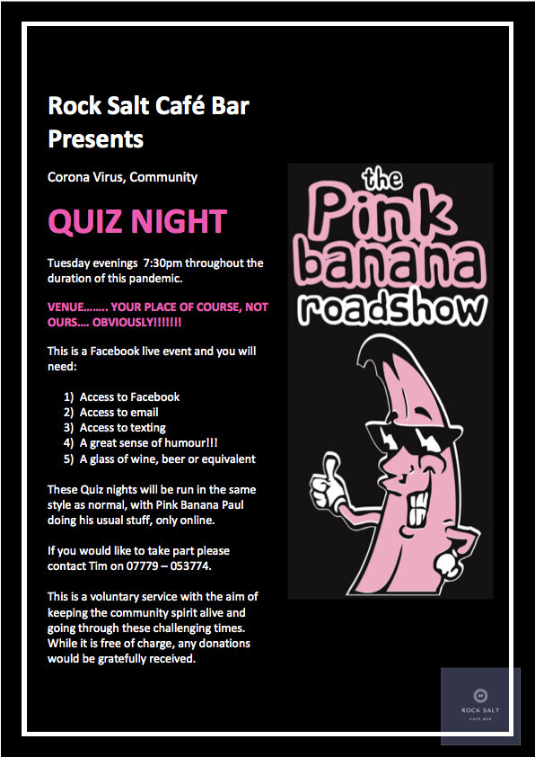 Rock Salt online quiz night