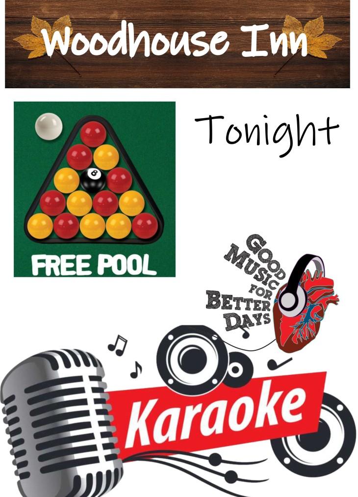 Free Pool, Good Tunes & Karaoke!