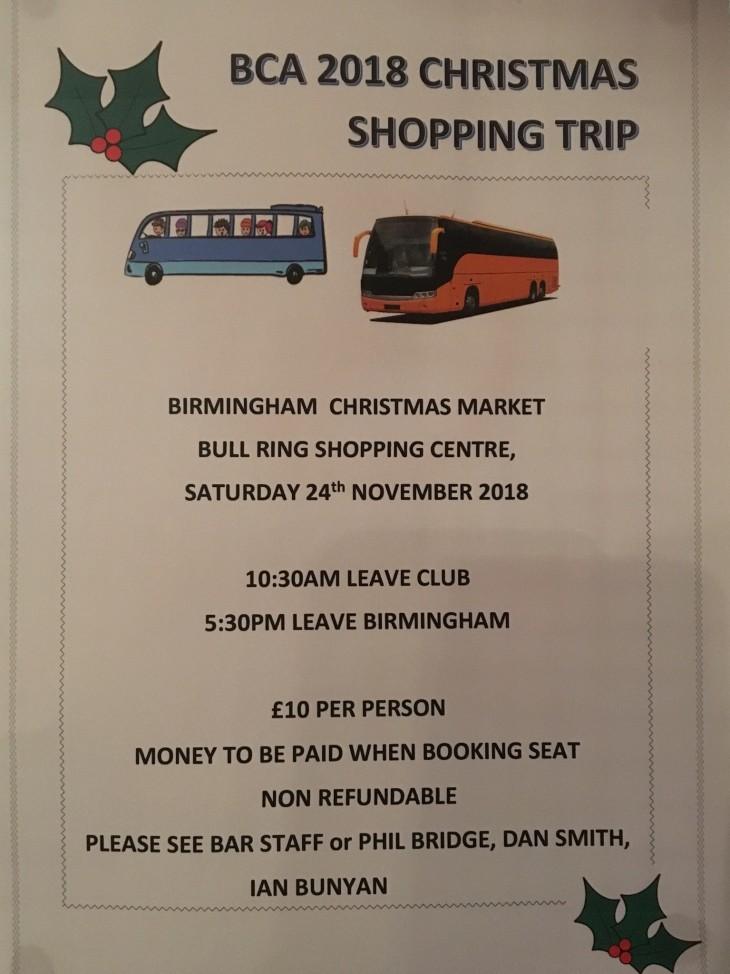 Birmingham Christmas Shopping Trip