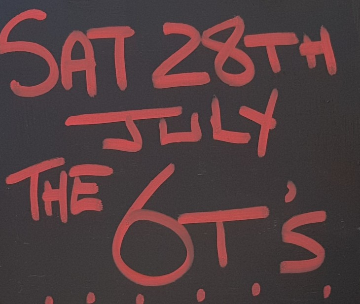 Live Music Saturday 28th July.