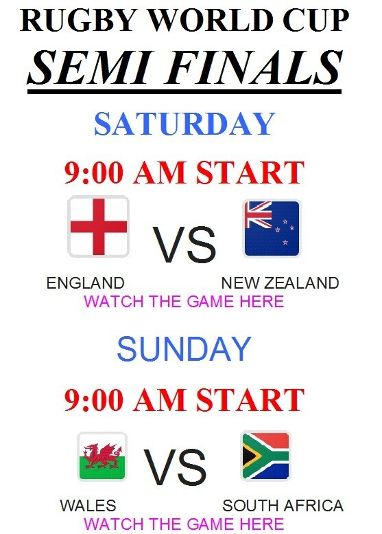 World Cup Rugby Semi Finals