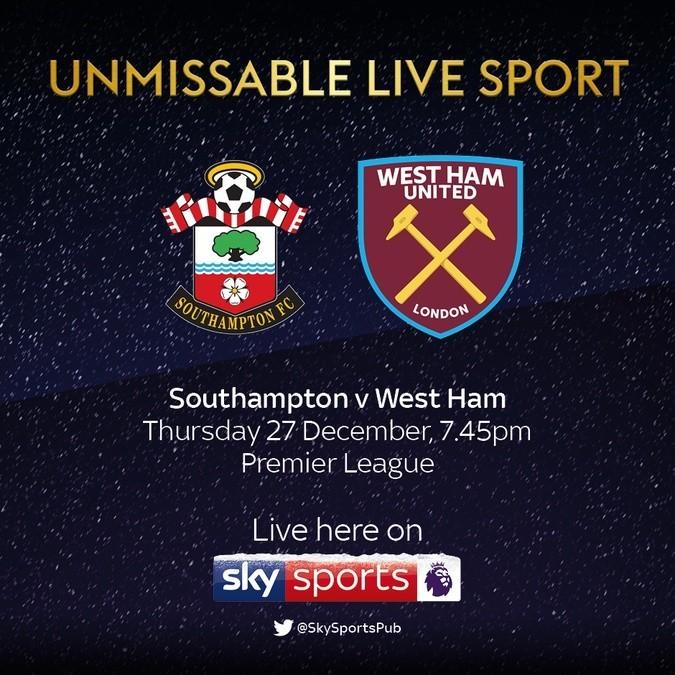 Southampton v West Ham LIVE