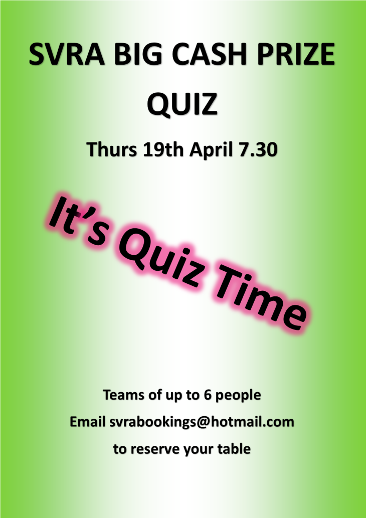 The BIG SVRA Cash Prize Quiz Night | Southcott Village