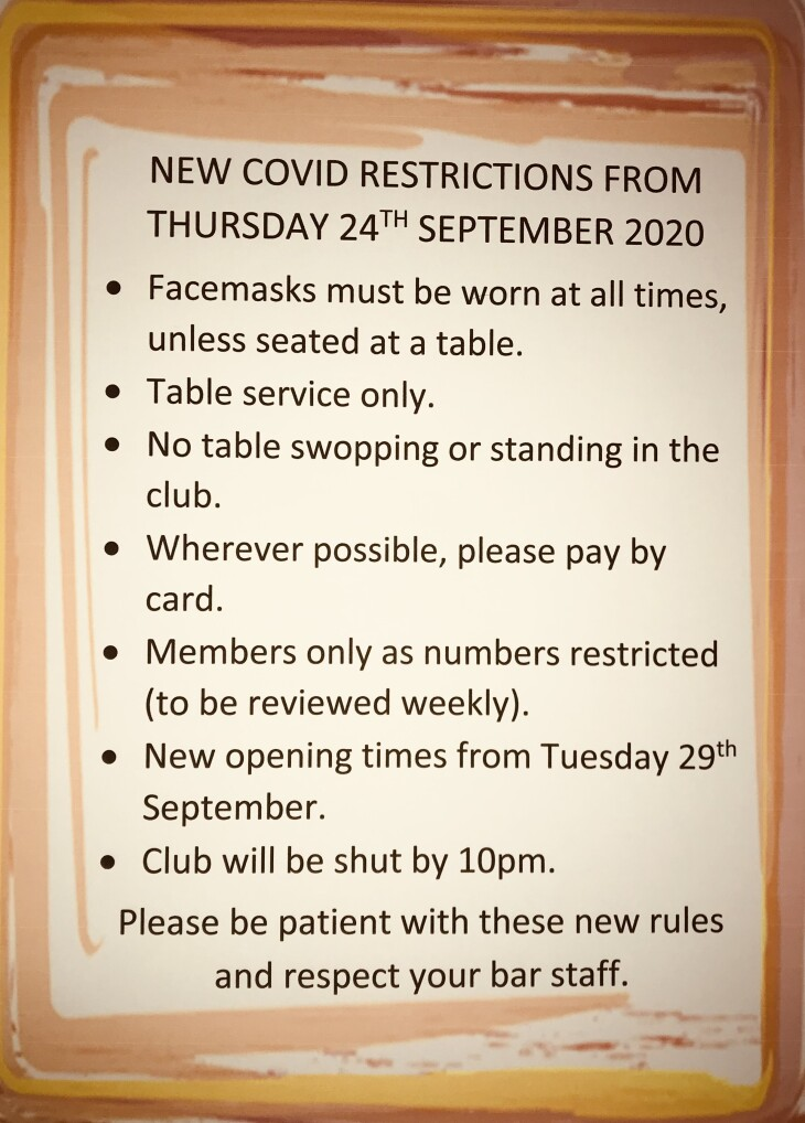 New COVID Restrictions