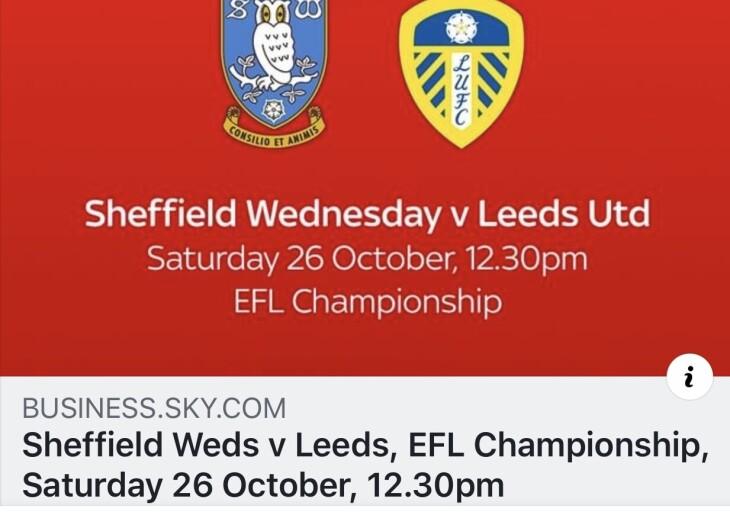 Sheffield weds v leeds