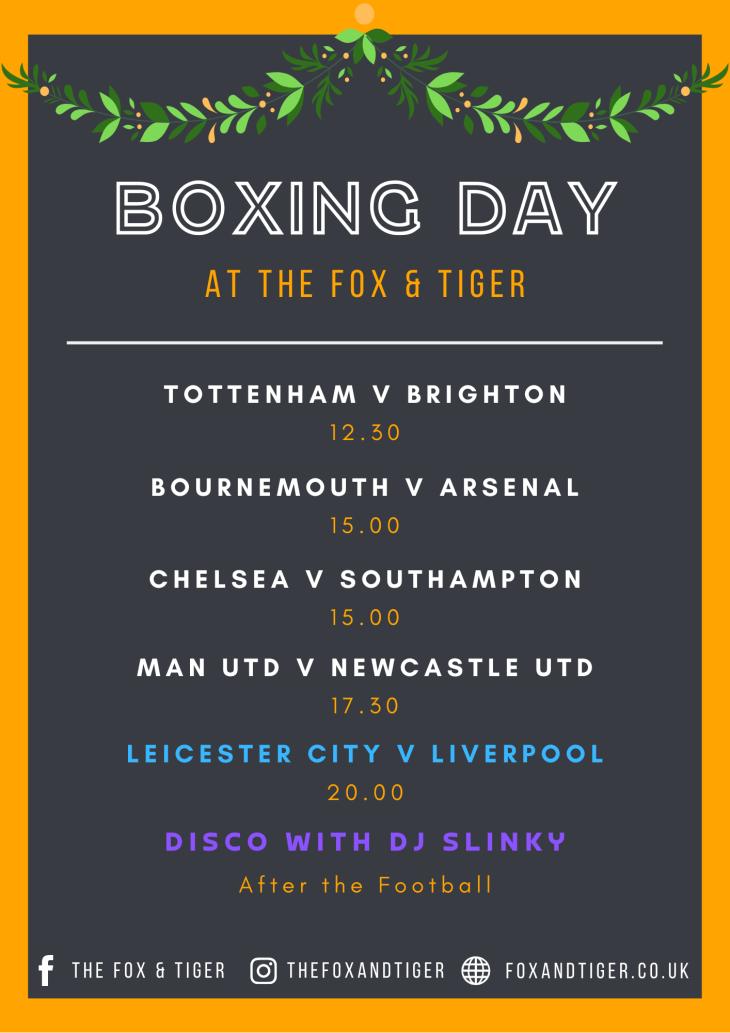 Boxing Day - Amazon Prime