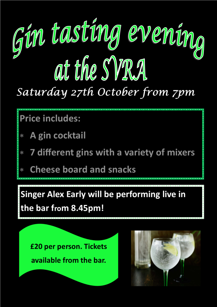 Gin Tasting Evening at The SVRA Club!