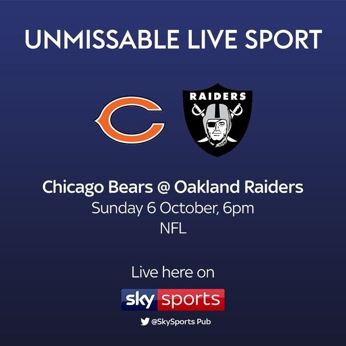 Live NFL - Bears @ Raiders
