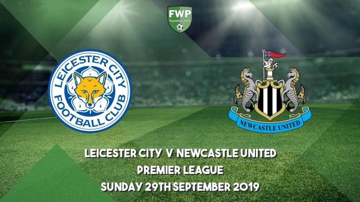 Leicester v Newcastle united ko 4.30pm