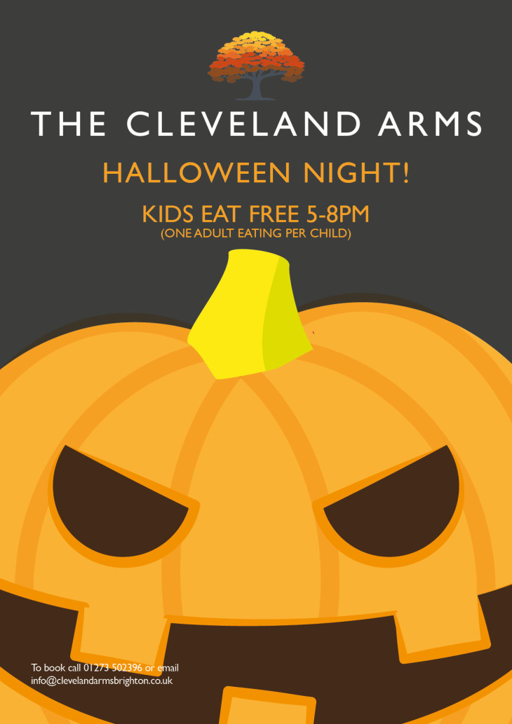 Halloween kids eat freeeee!!