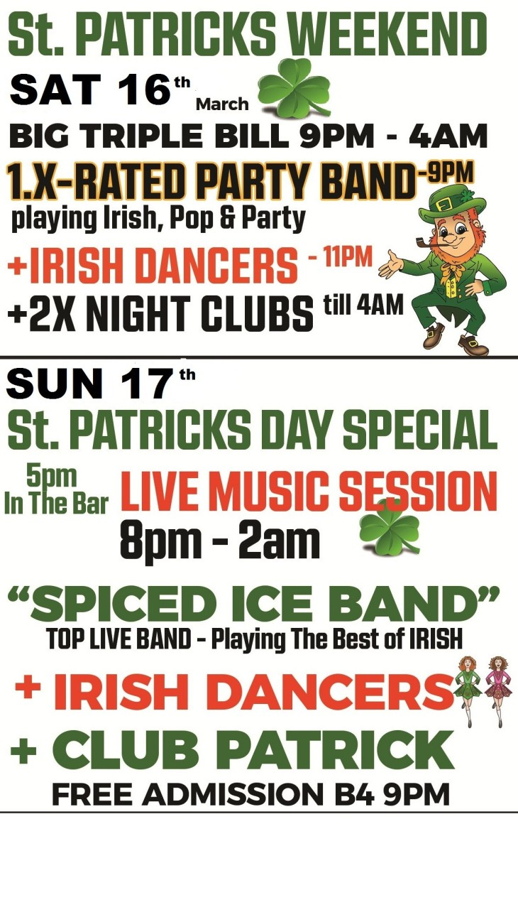 St Patrick's Weekend Special