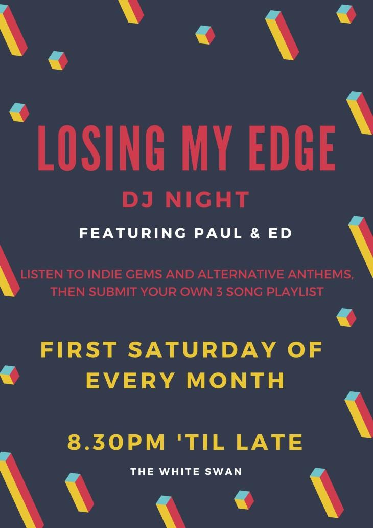 LOSING MY EDGE - INDIE NIGHT