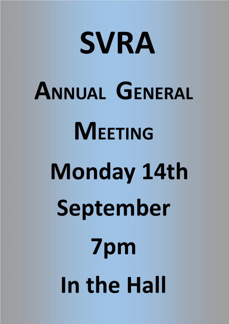 SVRA Annual General Meeting