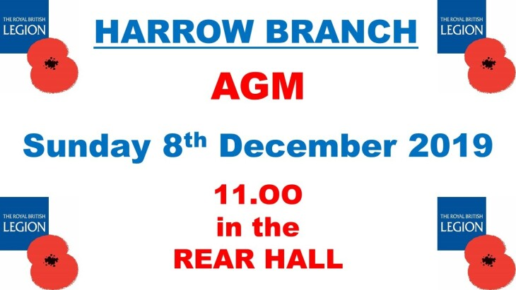 HARROW BRANCH AGM