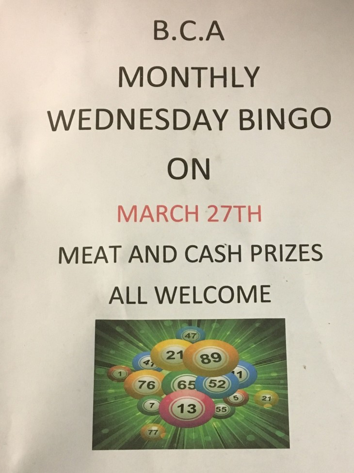 Wednesday Monthly Bingo