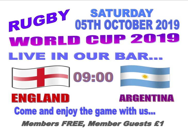 Rugby 2019  - England 09:00 Argentina