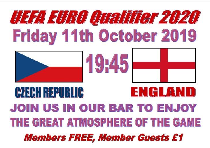 EUROS 2020 - Czech Rep 19:45 England