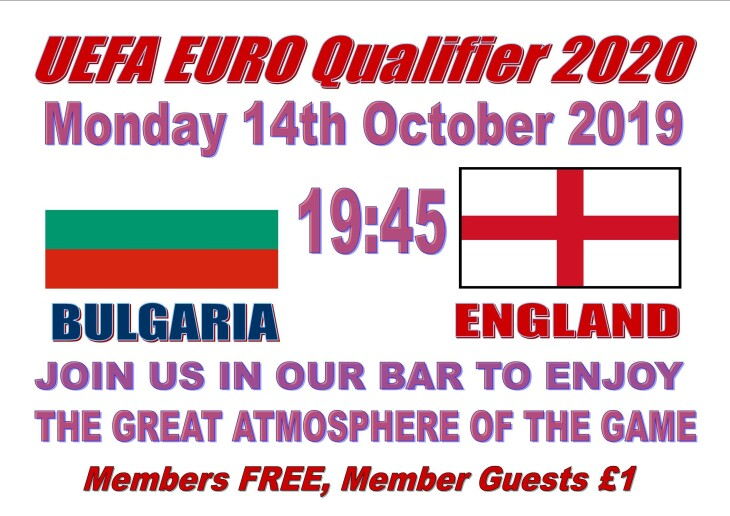 EUROS 2020 - Bulgaria 19:45 England