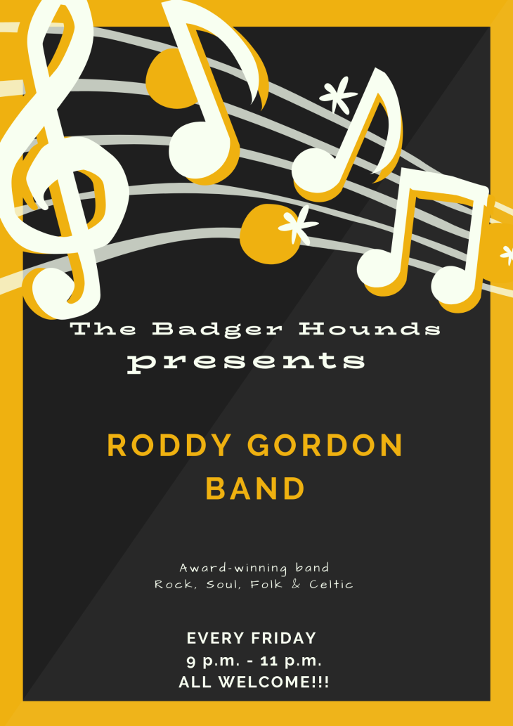 Live music from Roddy Gordon