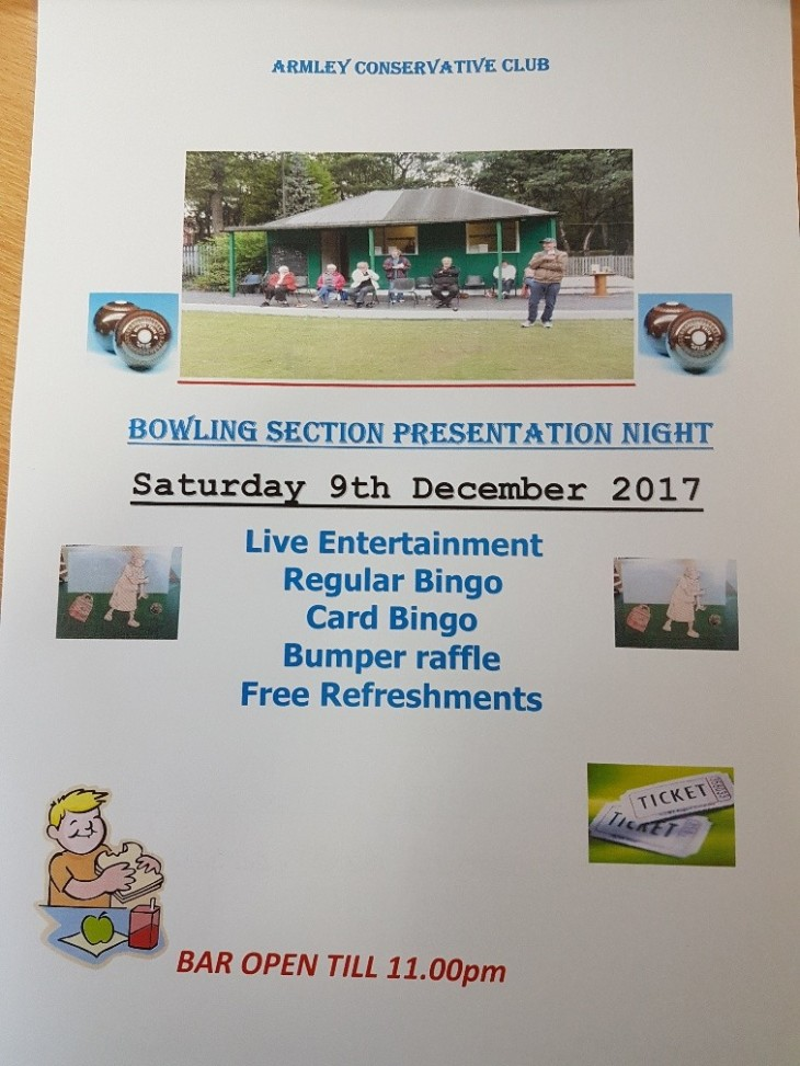Bowling Section presentation Night