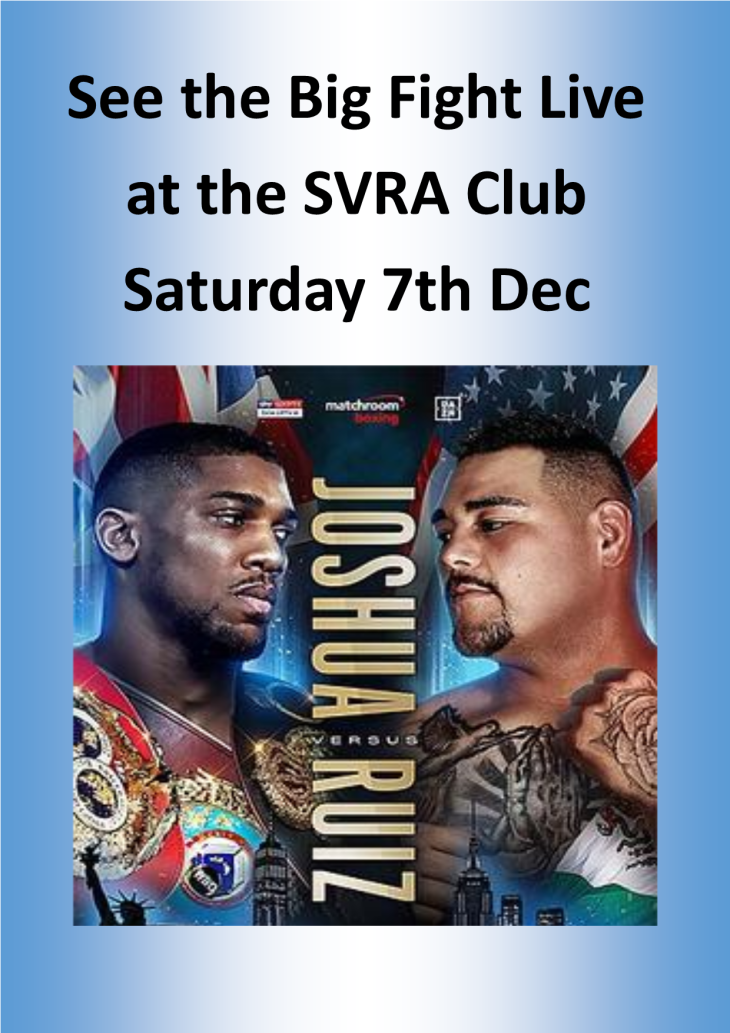 SEE THE BIG FIGHT AT THE SVRA CLUB