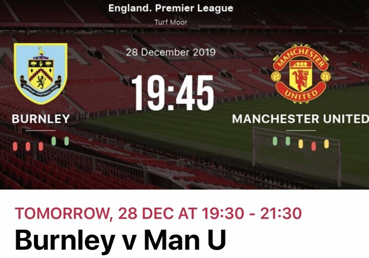 Burnley v Man U