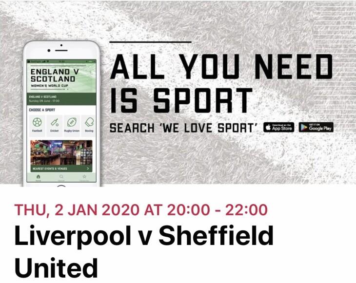 Liverpool v Sheffield Utd