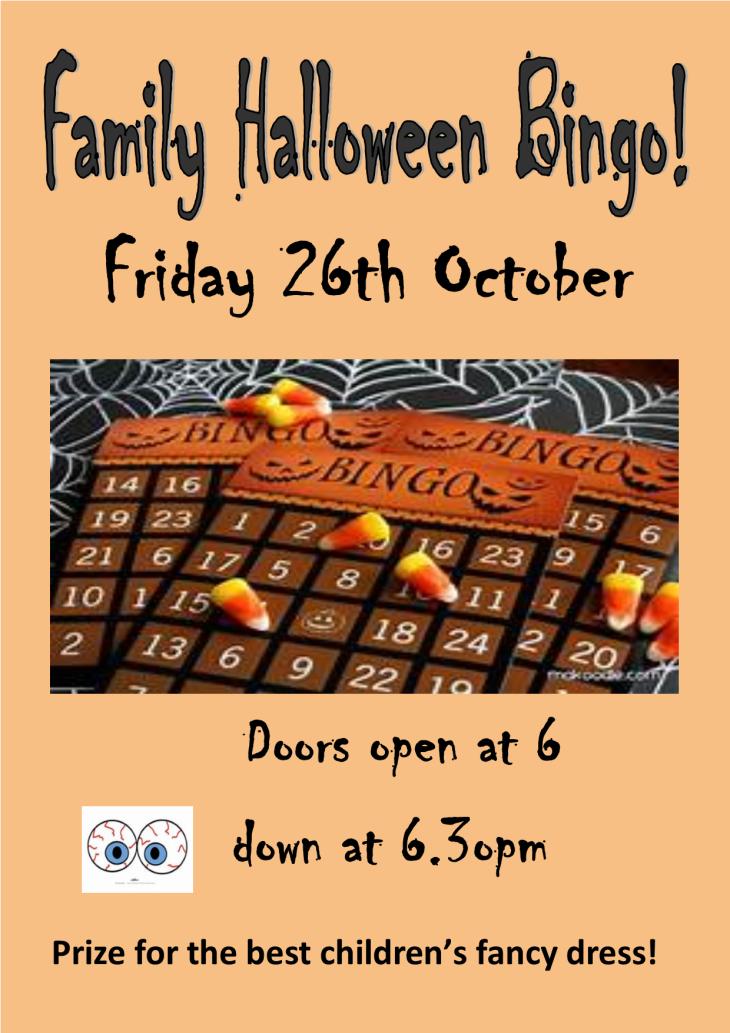 Halloween Bingo at the SVRA Club