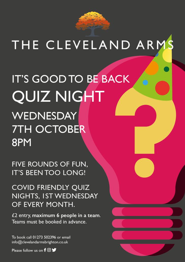 Quiz night is back!!