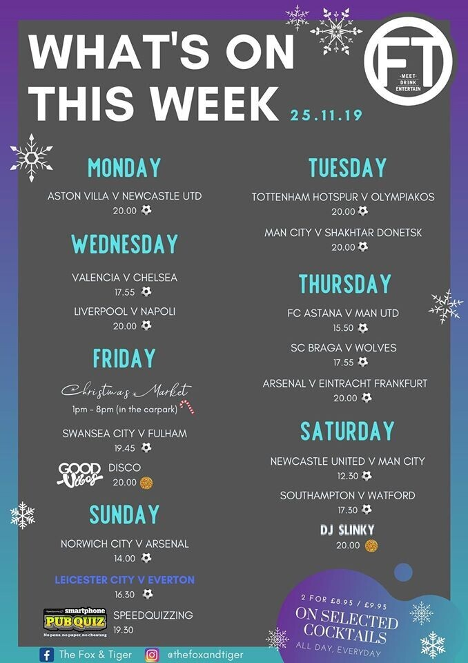Whats on this week