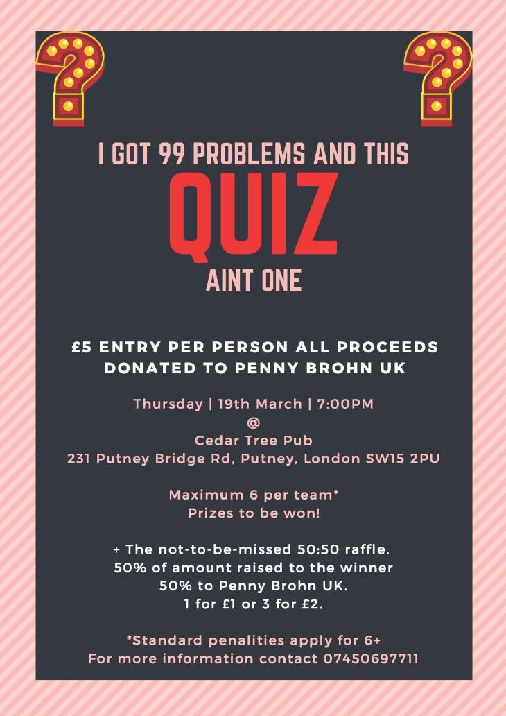 POSTPONED Charity Quiz Night