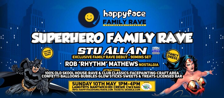 Happy Face Family Rave - 1-4pm