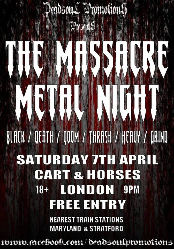 The Massacre Metal Night in London
