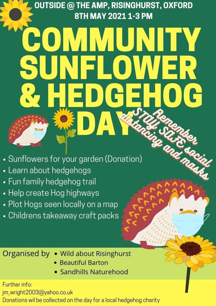 Community Sunflower & Hedgehog Day