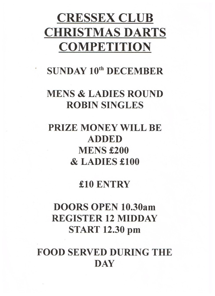 Darts Competition