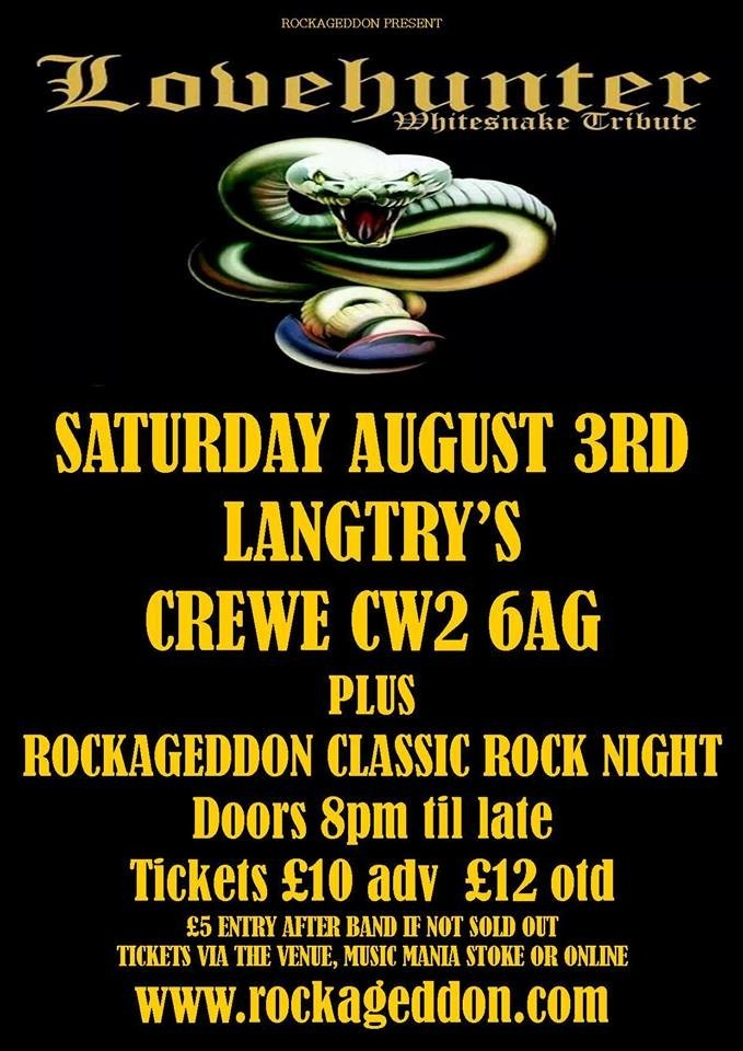 Rockageddon Rock Night & White Snake