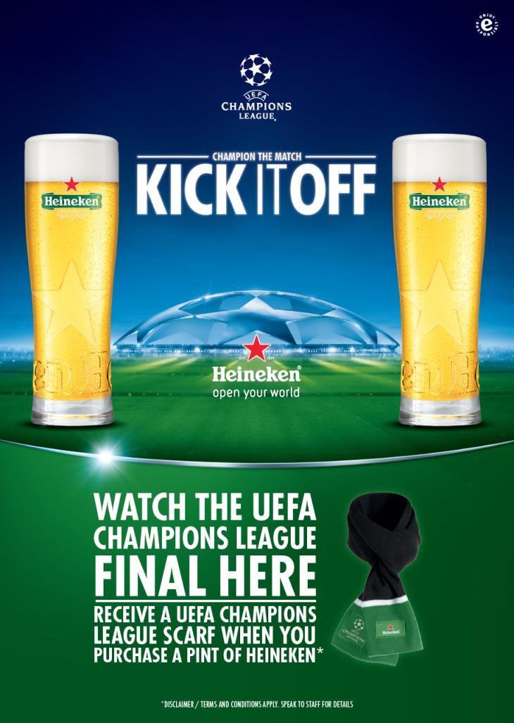 FREE Heineken Champions League Scarf