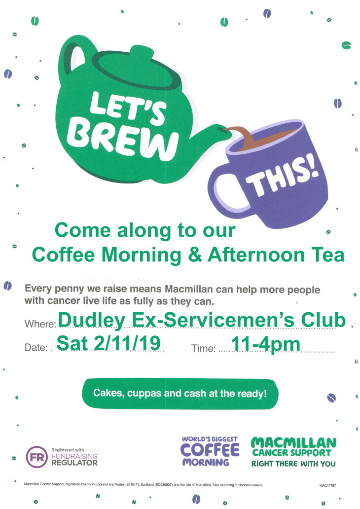 Coffee Morning & Afternoon Tea