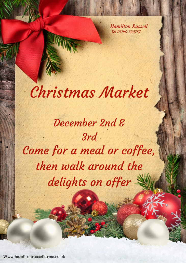 Hamilton Christmas Market.Christmas Market Hamilton Russell Arms Thorpe Thewles