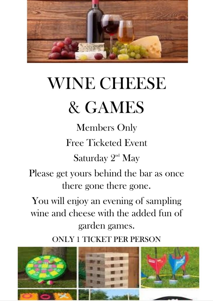 Wine Cheese & Games