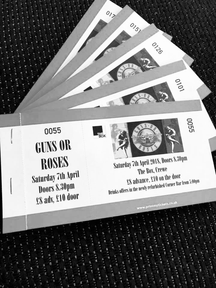 Guns or Roses Tickets 7/4 @ The Box