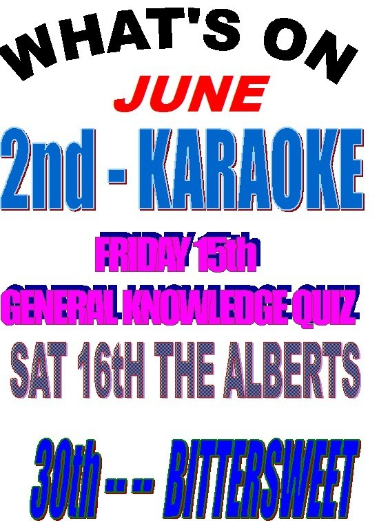 WHAT'S ON IN JUNE AT THE CLUB