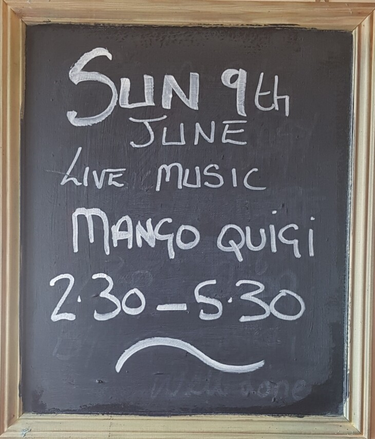 Live Music Sunday June 9th 2.30-5.30