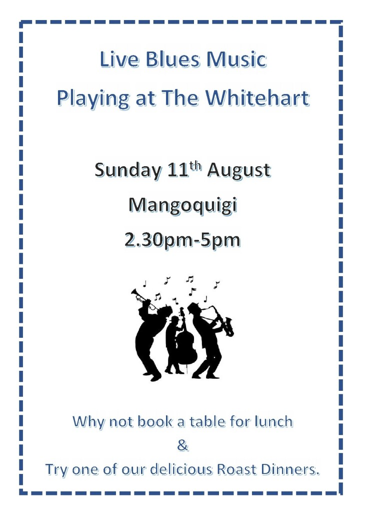 Live Blues Band Sunday 11th August