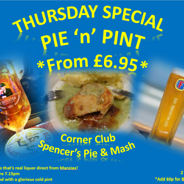 PIE n PINT THURSDAY SPECIAL!