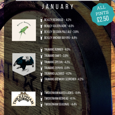 January Breweries